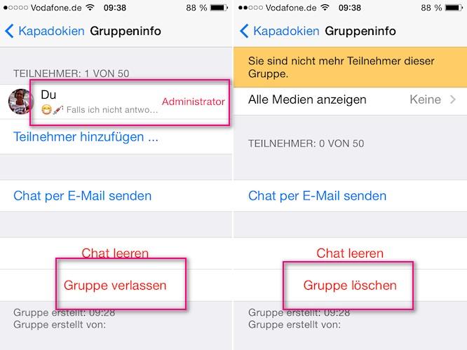 Gruppe Löschen Whatsapp