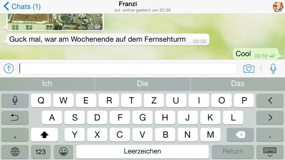 whatsapp-iphone-tastatur