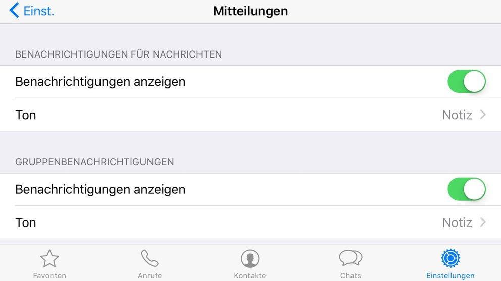 whatsapp-mitteilungstone-andern