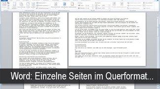 Einzelne Word-Seite im Querformat - Anleitung