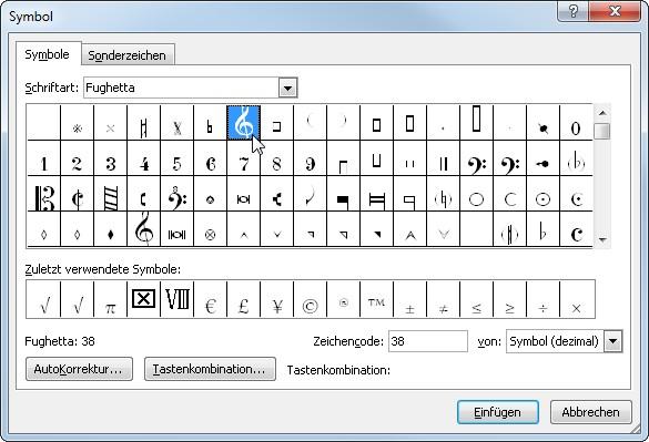 Praxistipp Word: Notenschlüssel und Noten schreiben – GIGA