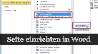 Praxistipp: In Word die Seite einrichten und Dokumente anpassen