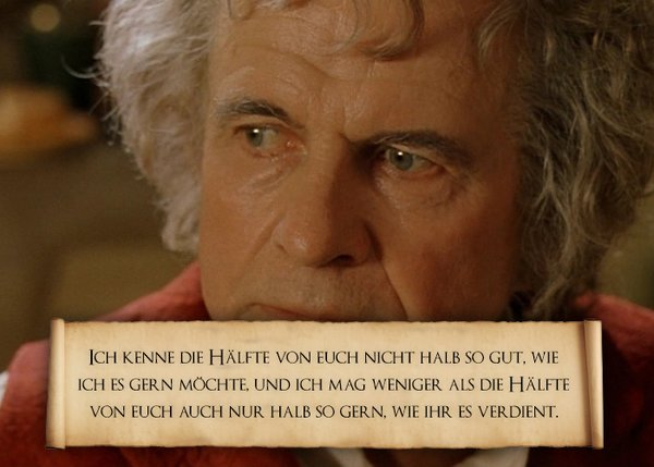 Herr Der Ringe Zitate Bilbo Deliriumfatalis