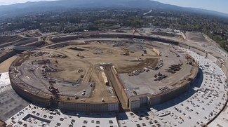 Apple Campus 2: Großteil des Fundaments bereits fertiggestellt