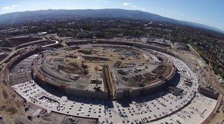 Apple Campus 2: Dronenflug zeigt rasanten Baufortschritt