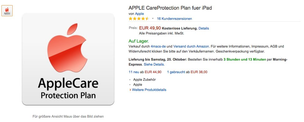applecare ipad amazon
