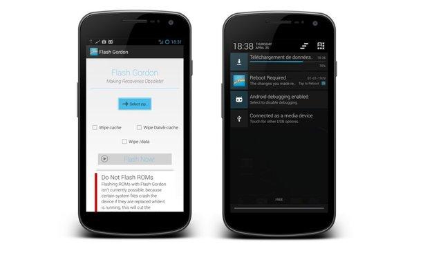 Flash Gordon: App ermöglicht Flashen von ZIP-Dateien ohne Recovery [Root]