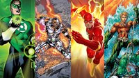The Flash, Aquaman, Green Lantern & Cyborg mit Solo-Filmen