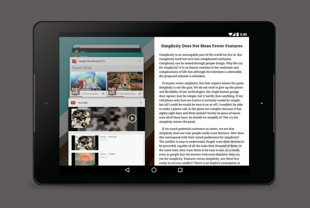 Android: Google experimentiert mit Multi-Window-Funktion