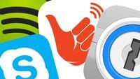 App-Updates: Spotify für iPad, Skype für iPhone, FireChat und 1Password