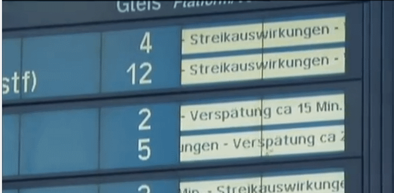 Bahnstreik Auskunft