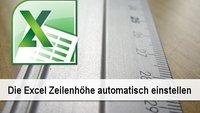 Praxistipp Excel: Zeilenhöhe automatisch einstellen
