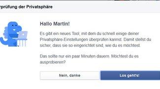 Facebook: Dinosaurier für Privatsphäre-Einstellungen