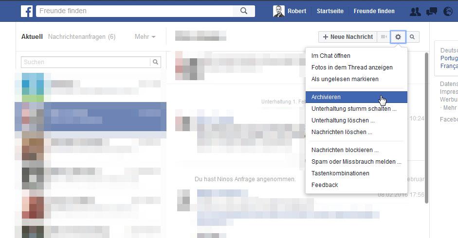 gelöschte facebook nachrichten