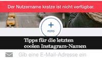 Tipp: Doch noch coole Instagram-Namen finden