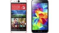 HTC Desire EYE vs. Samsung Galaxy S5: Technische Daten im Vergleich