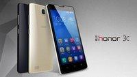 Huawei Honor 3C: Quad Core-Smartphone mit 5 Zoll-Display für 140 Euro vorgestellt