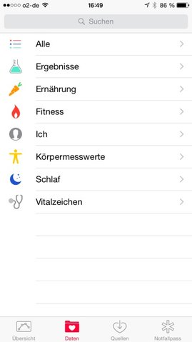 iOS-8-health-Kategorien