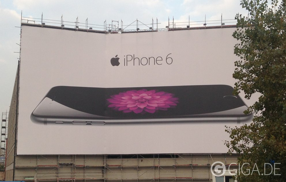 iPhone 6- Plakatwerbung