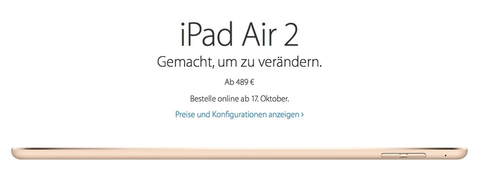 ipad air vorbestellen