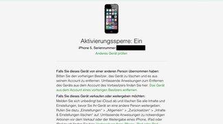iOS 7/8: Website zum Überprüfen der Aktivierungs-Sperre