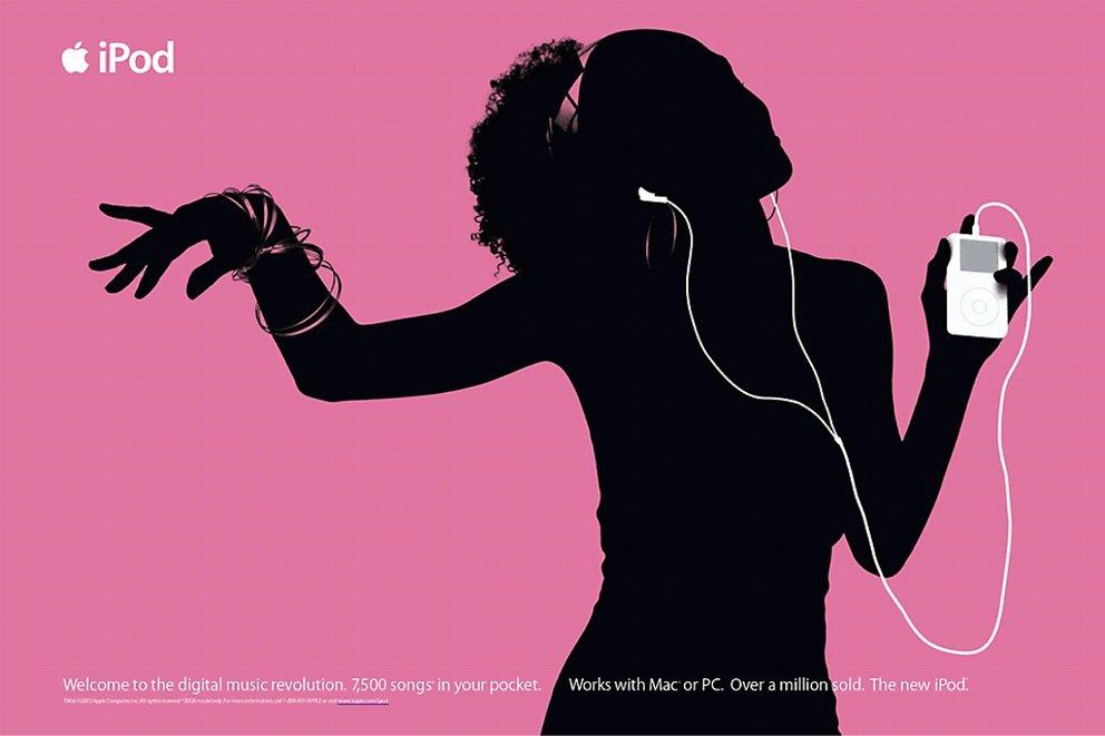 Apples ikonische Werbung für den iPod (Quelle: Apple)