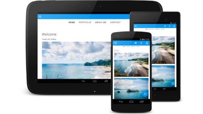 Jimdo laeuft jetzt auch als App auf Smartphones und Tablet mit Android.
