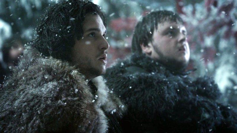 Jon Snow mit einem Weggefährten Sam: eine Referenz auf Frodo und Sam aus Herr der Ringe?