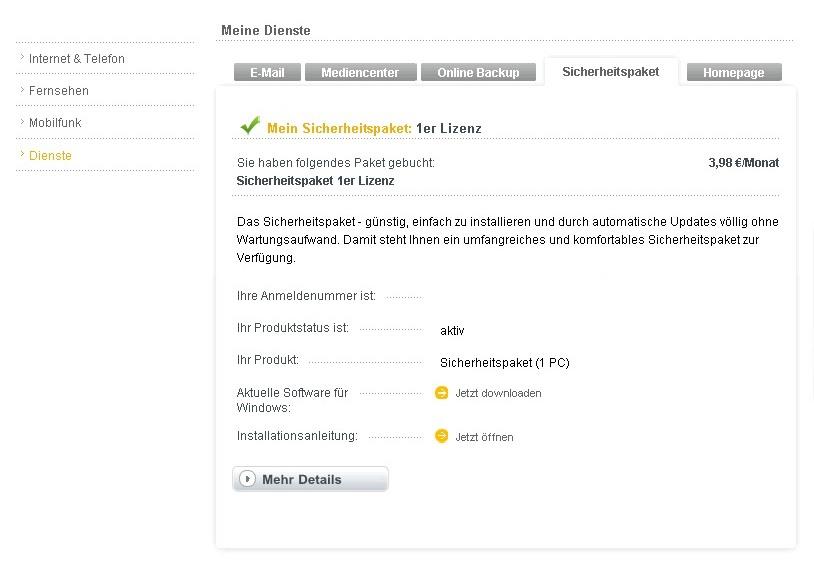kabel deutschland sicherheitspaket - Kabel Deutschland Kundigung Muster