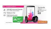 Telekom Complete Comfort S mit LG G3, LG G-Watch und Chromecast für 29,95 €/Monat