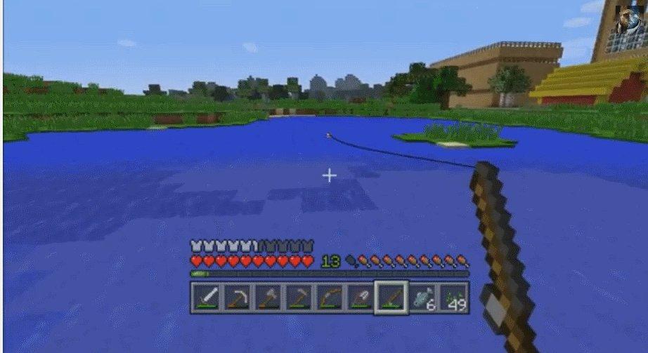 So Kann Man In MineCraft Angeln GIGA - Minecraft spielen um 3 uhr nachts