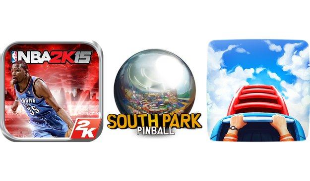 Neue Spiele zum Wochenende: NBA 2K15, South Park  Pinball und Rollercoaster Tycoon 4 Mobile erschienen