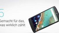 Nexus 5: Google-Phone bleibt im Play Store – solange der Vorrat reicht [Update]