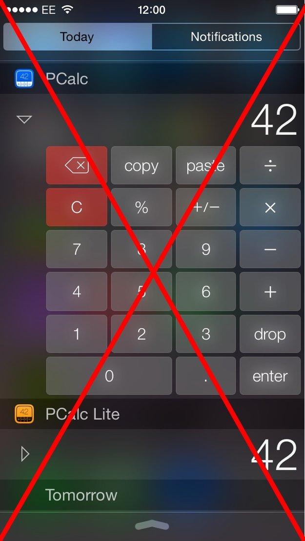 iOS-Mitteilungszentrale: Apple erlaubt keine Taschenrechner