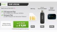 3GB Internet-Flat und Hotspot-Flat im Telekom-Netz für 9,99 €/Monat statt 19,99 €