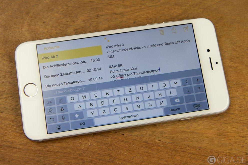 iphone tastatur vergrößern