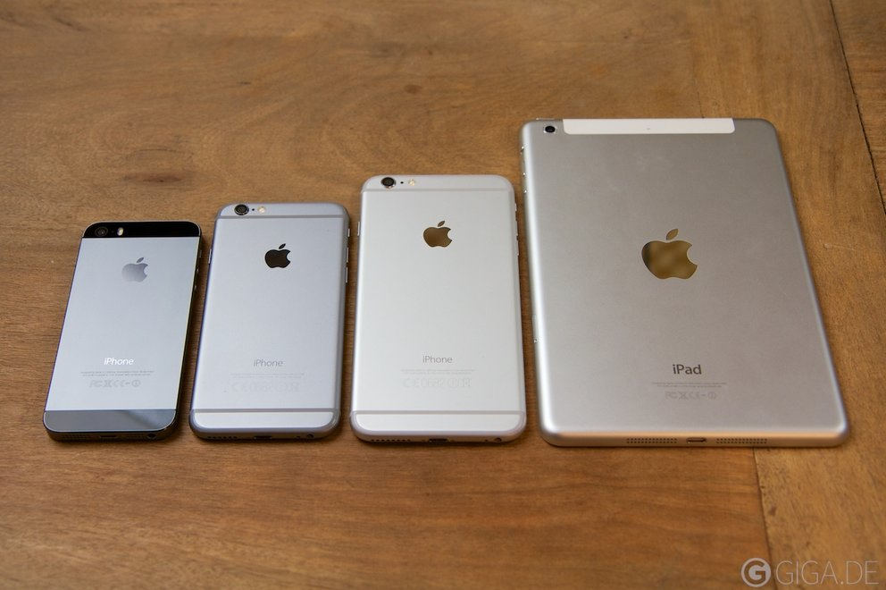 iPhone 5s vs iPhone 6 vs iPhone 6 Plus vs iPad mini Retina