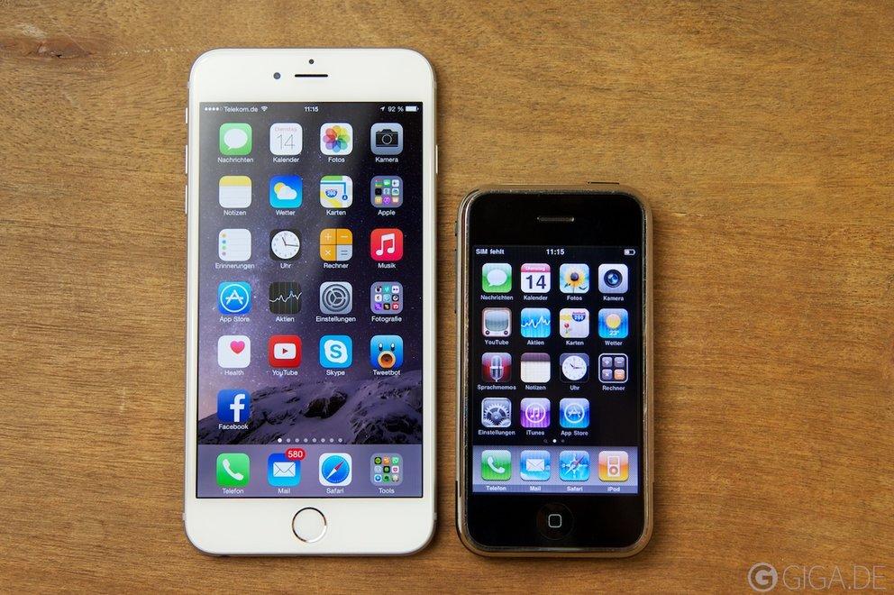 Da liegen Welten dazwischen: iPhone 6 Plus vs iPhone 2G