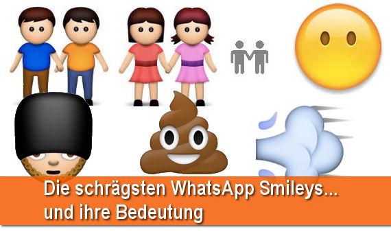 Smileys der whatsapp bedeutung Emoji Bedeutung: