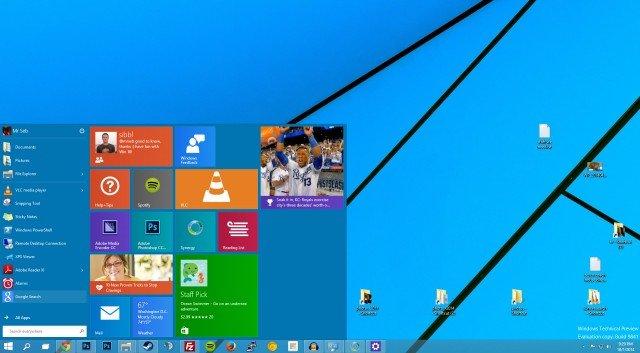 Windows 10: Das Startmenü kann nach eigenem Wunsch durch App-Kacheln erweitert werden (Quelle: extremetech)
