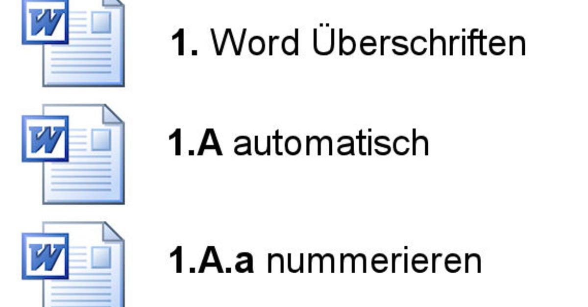 Word: Überschriften automatisch nummerieren – so geht\'s – GIGA
