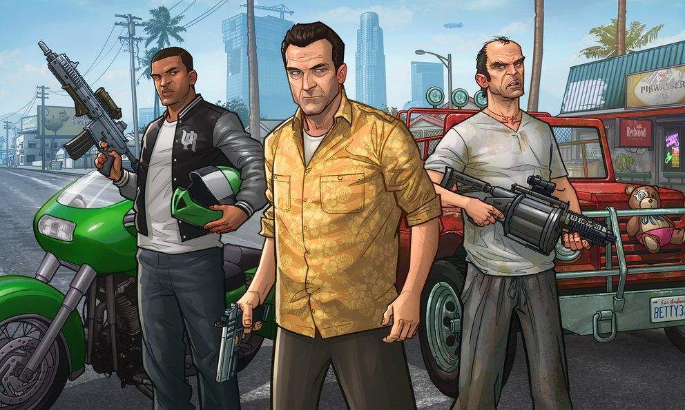 GTA 5: Drei ....Freunde sollt ihr sein. Franklin, Michael und Trevor