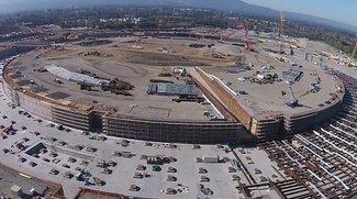 Apple Campus 2: Dronenvideo zeigt Baufortschritt des Raumschiffs