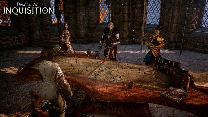 Dragon Age Inquisition Test: Im Kriegsrat teilt ihr Missionen zu.