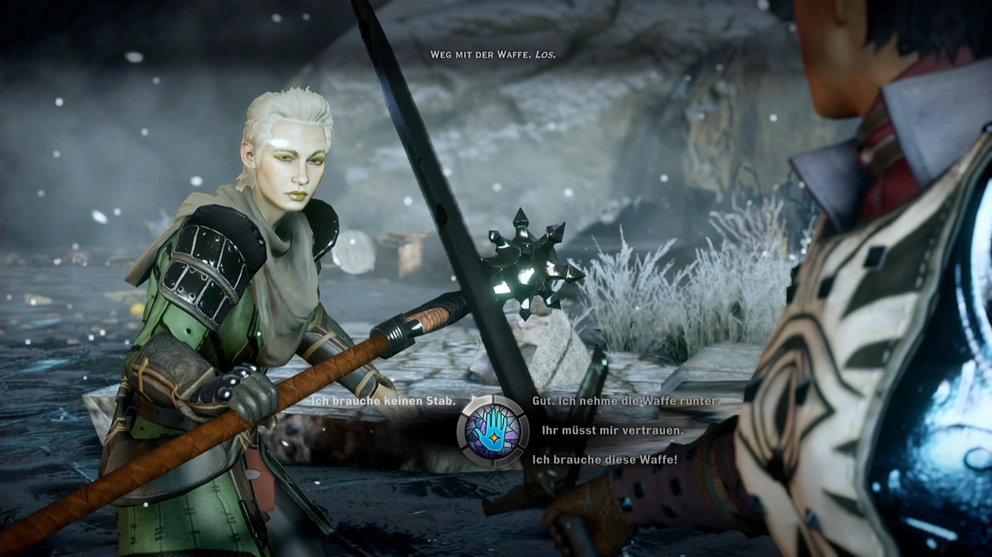 Dragon Age Inquisition Test: Das Symbol in der Mitte verdeutlicht die Emotion zur Aussage.