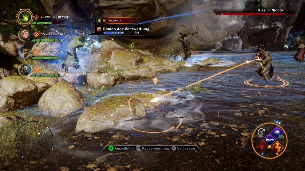 Dragon Age Inquisition Test: bei pausierten Geschehen befiehlt es sich entspannt.