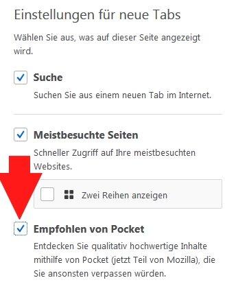 Pocket Firefox Entfernen