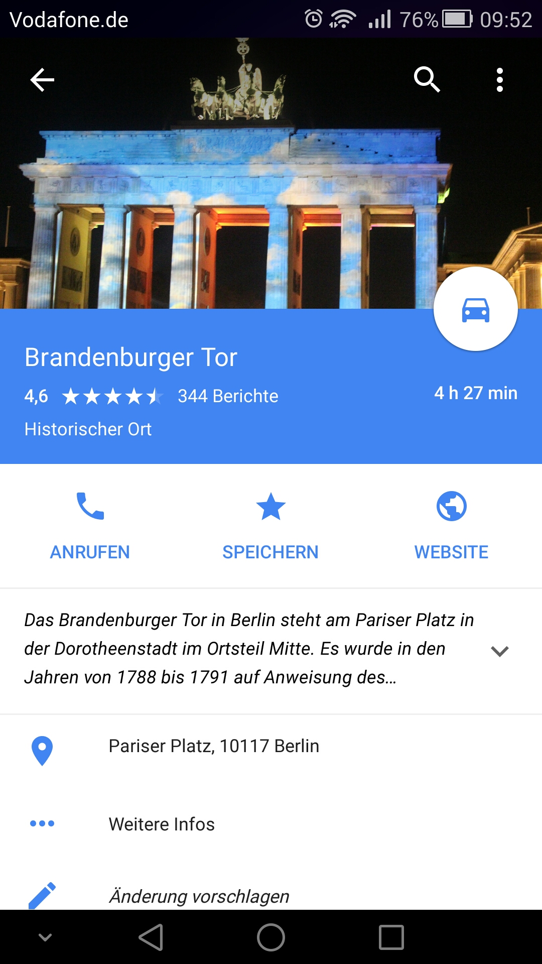 Höhe Google Maps