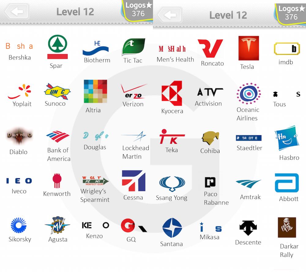 Logo Quiz Answers Level 8 Android App Logo Quiz Lösu...