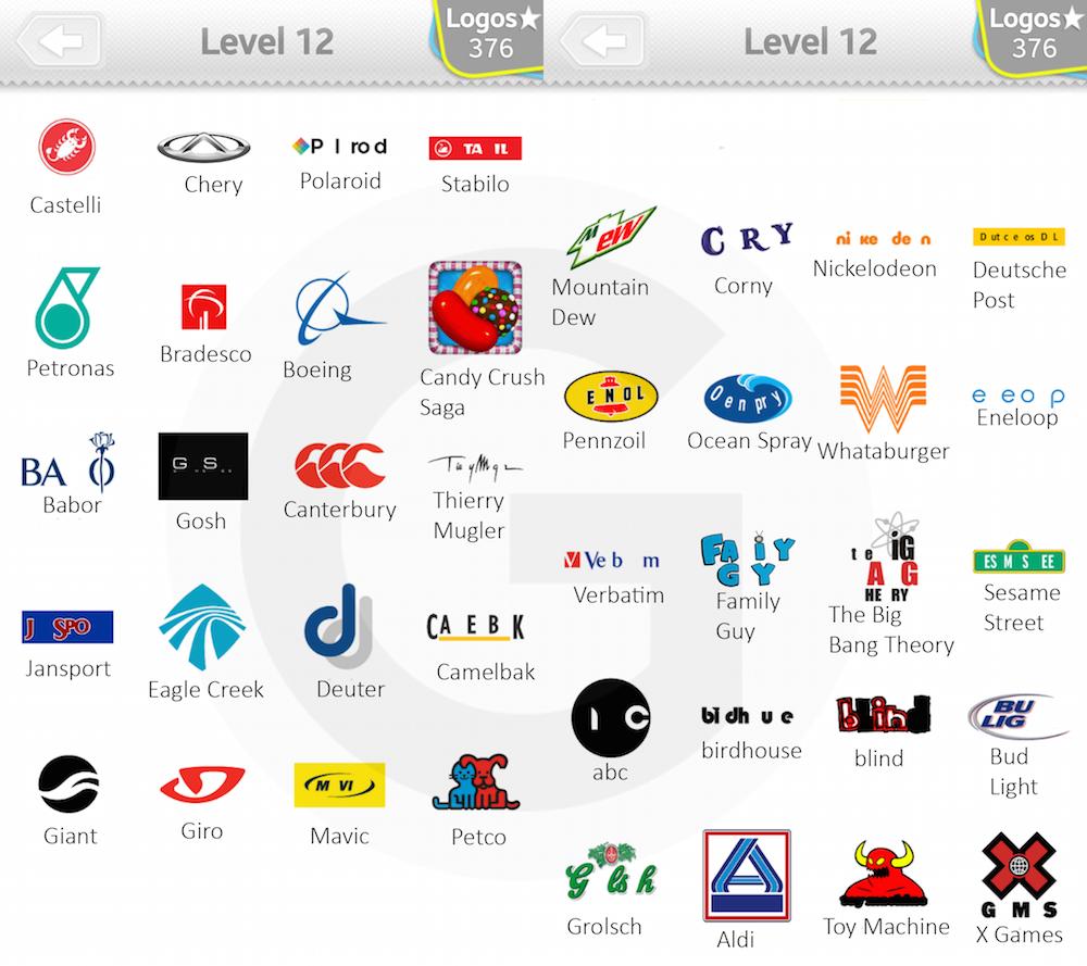 Solution Quiz Logo Jeu Niveau 11 et 12 Solutions pour jeux